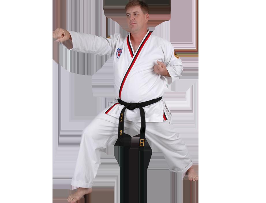 Adult man punching