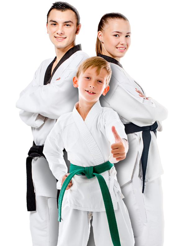 group of martial arts students